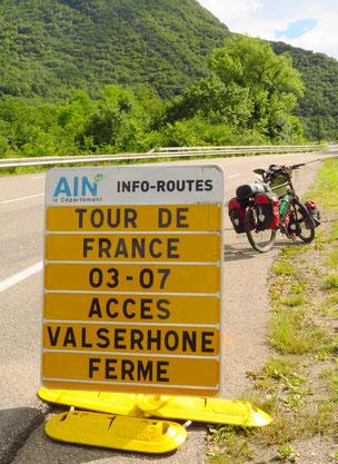 Die Tour de France knapp verpasst.