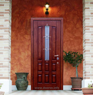 Металлические двери со стеклом Руза.