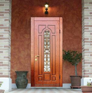 Металлическая дверь с ковкой Можайск.