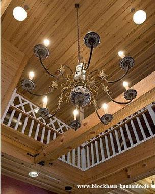 Massivholzhaus - Blockhaus, Holzhäuser, Licht, Beleuchtung, Design, Wohnhaus, Lichtplanung, Lichtdesign