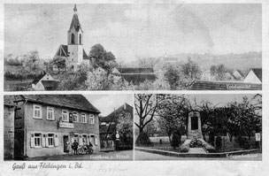 Postkarte Sickingen 1936