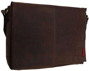 """Edle Notebooktasche 17 Zoll aus Leder des Modells """"Darwin"""""""