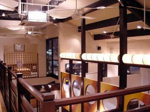 2階からの展望:和と酒馬乃屋