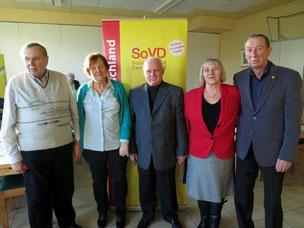 v.l.n.r.: Peter Goldmann, Christa Ulrich, Siegfried Ulrich (1. Vorsitzender), Inge Burmester und Bernd Burmester (2. Vorsitzende)