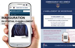 Inauguration du portail e-Habillement des Armées françaises.