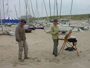 Rene Plein Air & Corry Kooy at Noordwijk