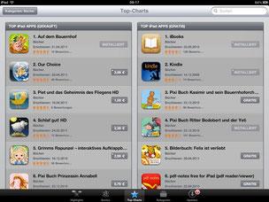 """Platz 1 in den App-Charts in der Kategorie Bücher: """"Auf dem Bauernhof"""""""