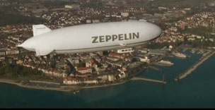 Next generation: A Zeppelin NT (New Technology) seen above Friedrichshafen  /  source: Deutsche Zeppelin-Reederei