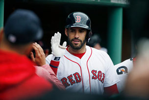Nella foto JD Martinez (AP Photo/Michael Dwyer)