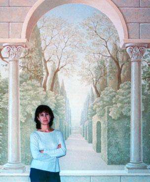 Irma Fiorentini, classical murals, wallpaper borders