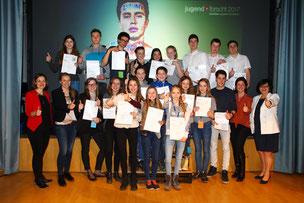 Die Sieger des Wettbewerbs 2017; Foto: Finck Medien