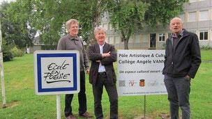 Marcel Helbert, président du Pôle, entouré des vice-présidents Claude Bon et Serge Bouvier ©ouestfrance