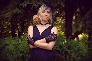 Schwarz als Hohzeitsfarbe, Brautkleid