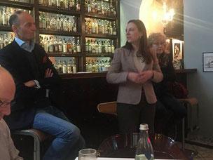v.l. Kandidat Hans Bellstedt, Bezirksvorsitzende Maren Jasper-Winter, Kandidatin Sybiller Meister