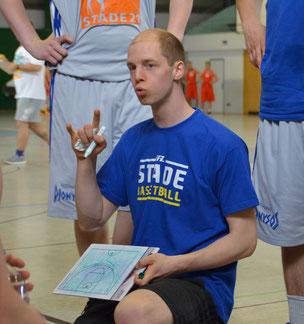 Seit zehn Jahren Trainer beim VfL Stade Basketball: Florian Günther. (Foto: Moradi)