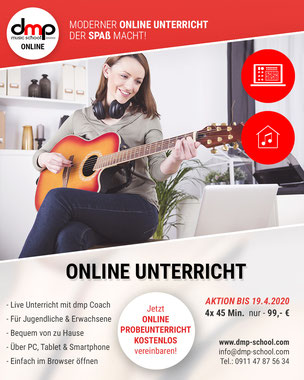 Online Unterricht an der dmp school