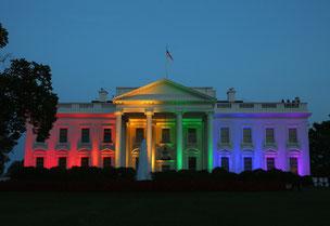 レインポーカラーのホワイトハウス