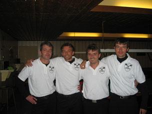 von links: A.von Neubeck, M.Schärfl, D.Smiljan, G.Isakovic