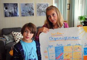 Szenenbild, rechts Leonie (c) ARD Degeto/ Alfons Kowatsch