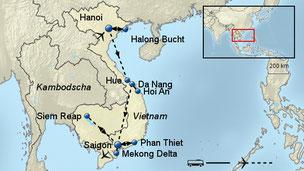Rundreise Vietnam und Kambodscha mit Baden & Flug Ostern 2018 Weihnachten 2018 Silvester 2019