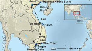 Jetzt den Osterurlaub 2018 in Vietnam buchen: 22.3.-7.4.2018 viele Ausflüge mit deutschsprechender Reiseleitung im Preis: Bootsfahrt Halong Bucht, Rikschafahrt in Hanoi, Mekong Delta
