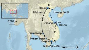 Indochina Rundreise Vietnam Kambodscha mit Phnom Penh Angkor Wat incl. allen 6 Flügen ab 1.999,- €