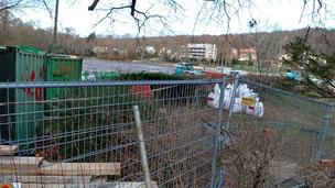 Travaux en cours à mi-février sur les barrages des étangs de Ville d'Avray (étangs de corot)