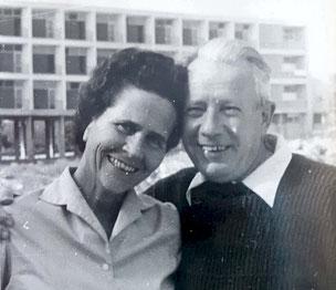 Das Ehepaar Lilo und Walter Katz in Israel