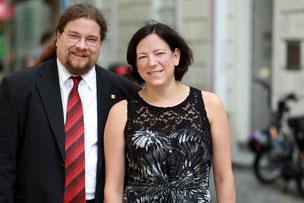 Angelika Sacher und Klaus Bergmaier. Foto: WEINFRANZ