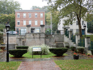 Roger Williams Memorial is at the site of an old spring