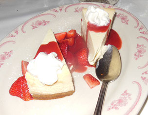 Maggiano's New York Style Cheesecake with Strawberries