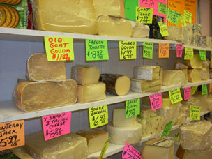 The Cheese Store at Boston's Haymarket is a Favorite