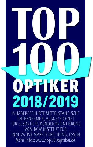 GEBKER OPTIK erhält Auszeichnung als TOP 100 Optiker 2018/2019