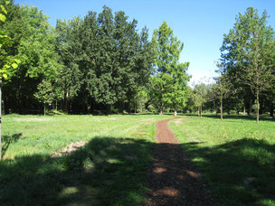 Spa gardens and park, near by a bike rental station