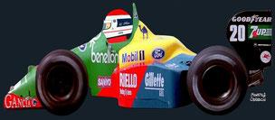 Emanuele Pirro con su Benetton B189 by Muneta & Cerracín