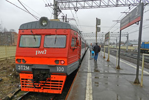 Elektritschka russische Eisenbahn