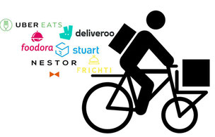 Salaire coursiers vélo food delivery