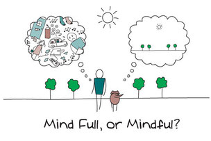A depiction of mindfulness meaning harmonious clarity of thought and vision in life