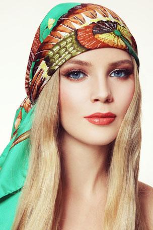 6 Ideen Um Frisuren Mit Tuch Aufzuwerten Cabriotuch Duttschleife