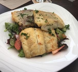 Ostseefisch mit Salat