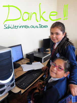 bogota Mädchen lernen Computer hilfswerk schule school girls kolumbien