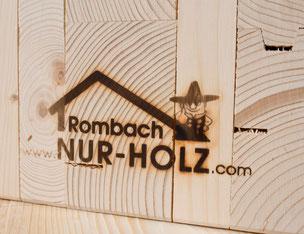 NUR-HOLZ-Wand im Querschnitt