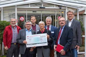 Foto: v.l.n.r. Richard Erdmann, Anton Nagel, Dieter Debus, Martina Niesel, Werner Rupp, Wolfgang Wagner, Norbert Bickel