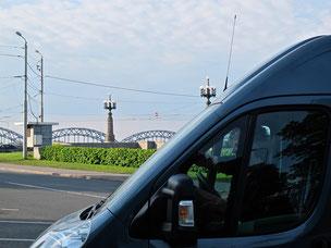 unser Stellplatz in Riga direkt an der Promenade