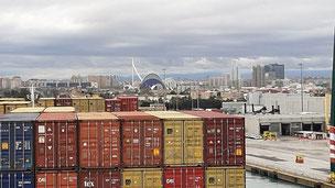 Bild: Hafen von Valencia