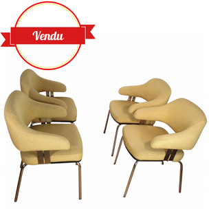 Fauteuils de conférence, chaise de conférence, Fauteuils saarinen, Eero Saarinen, fauteuil 1970, fauteuil 1960