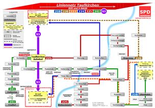 Der neue Liniennetzplan für Taufkirchen - Jetzt bestellen!