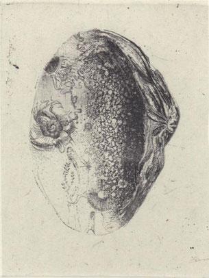 小さなプール 銅版画 9×6.5cm