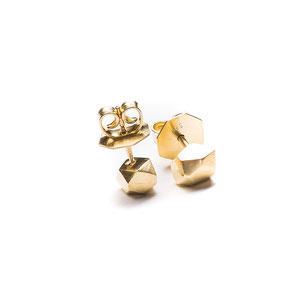 Zwei Brocken Glück Ohrsteckern in 585/- Gelbgold