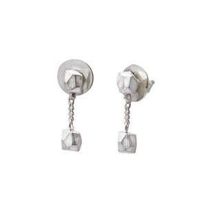 Vier Brocken Glück Ohrhängern in Silber